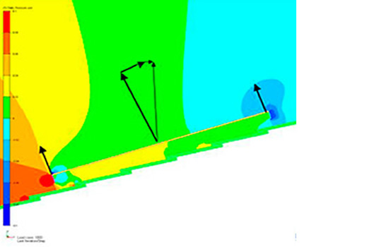 CFD simulation of wind force on photovoltaic roof-mounted panel - CFD Consulting Services