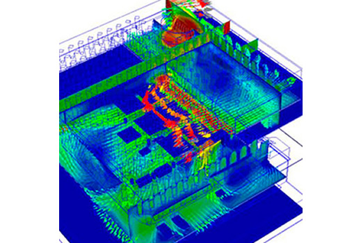 CFD simulation shown natural buoyancy air flow across the PCB and chips within plastic enclosure for outdoor environments