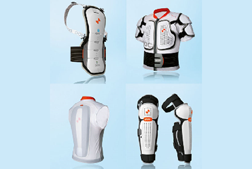 Athletic body armors use a complex array of plastics, elastomers and foams that are well suited to analysis by LS-DYNA