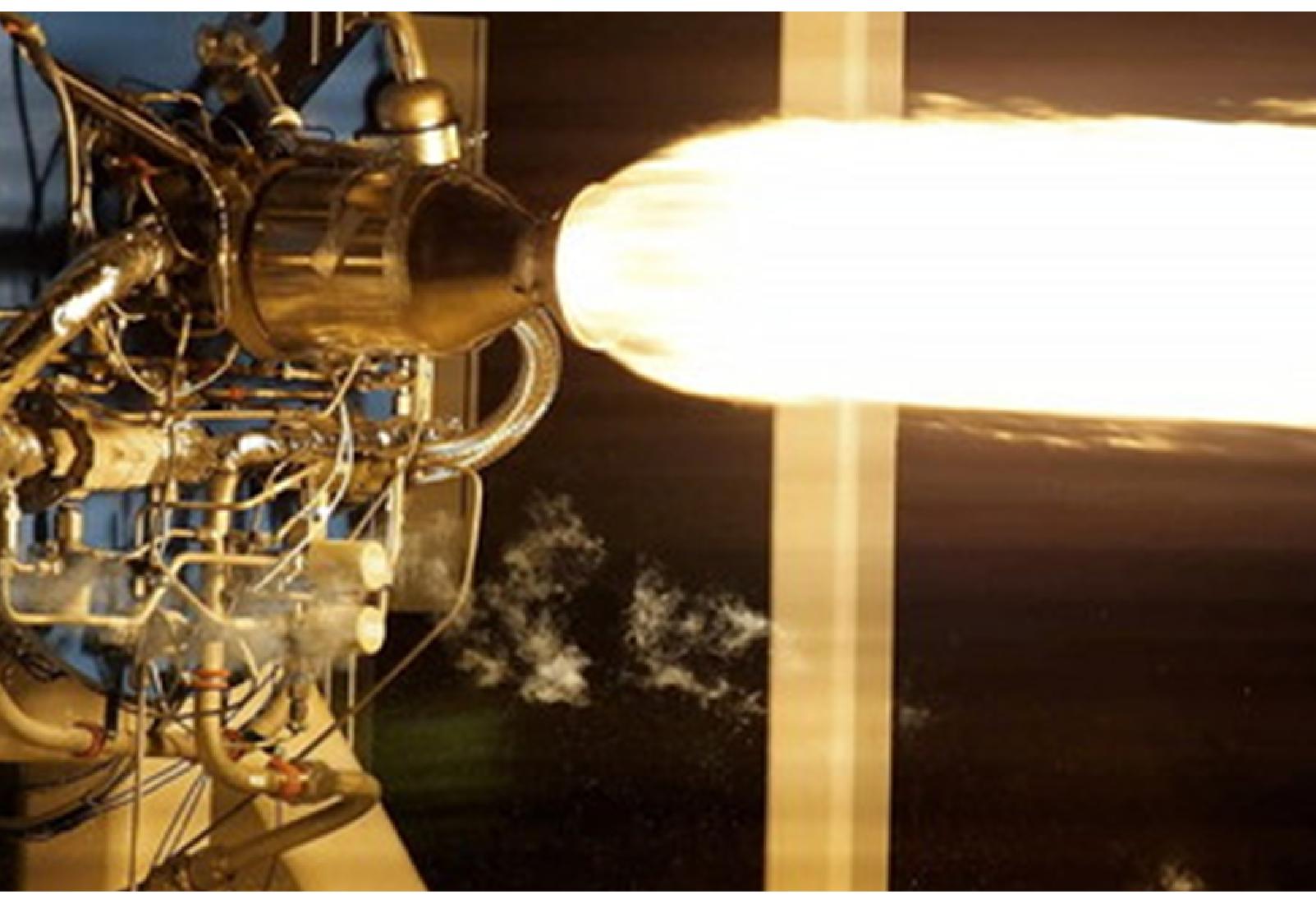 Rocket motor firing using LOX and RP1 Fuiel Mixture