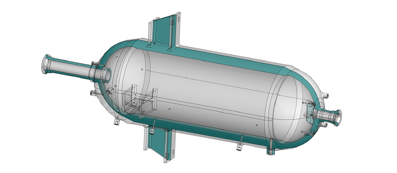 Figure 1: Thick-wall, high-pressure tank