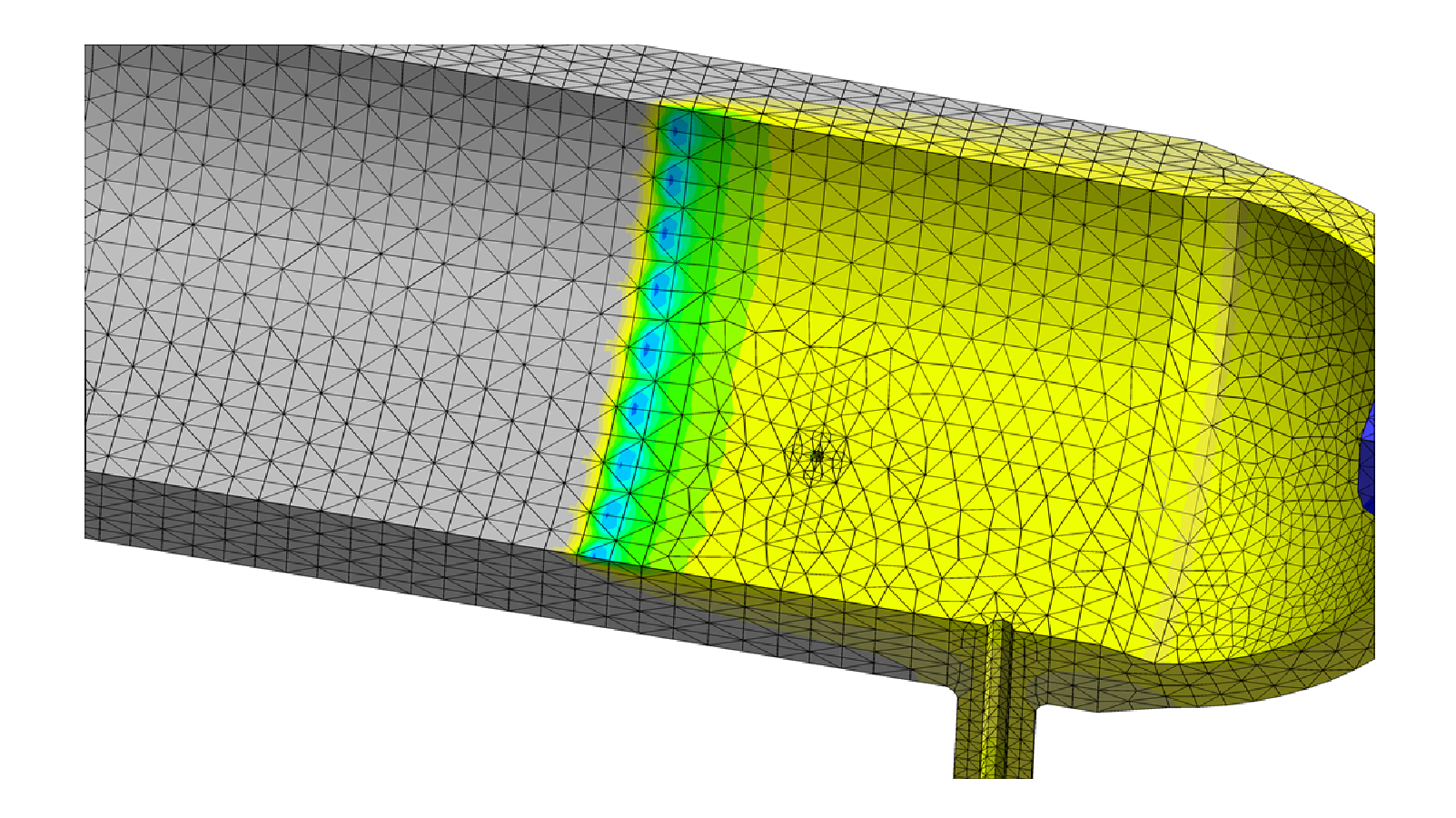 Figure 2: Transient thermal results during simulated filling operation