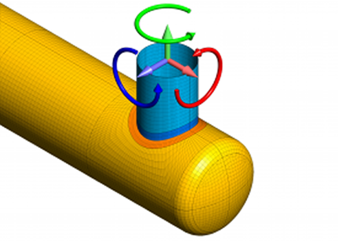 ASME Section VIII, Division 2 pressure vessel nozzle analysis