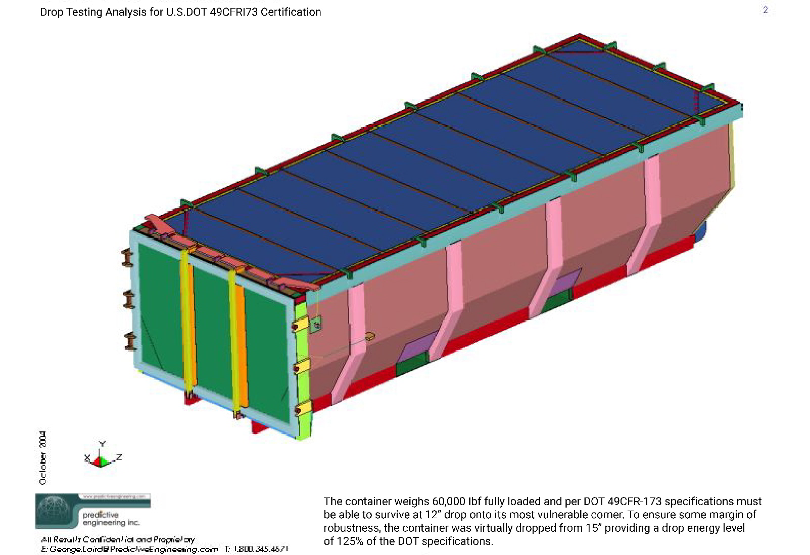 Large Nuclear Waste Storage Containers Slide 1