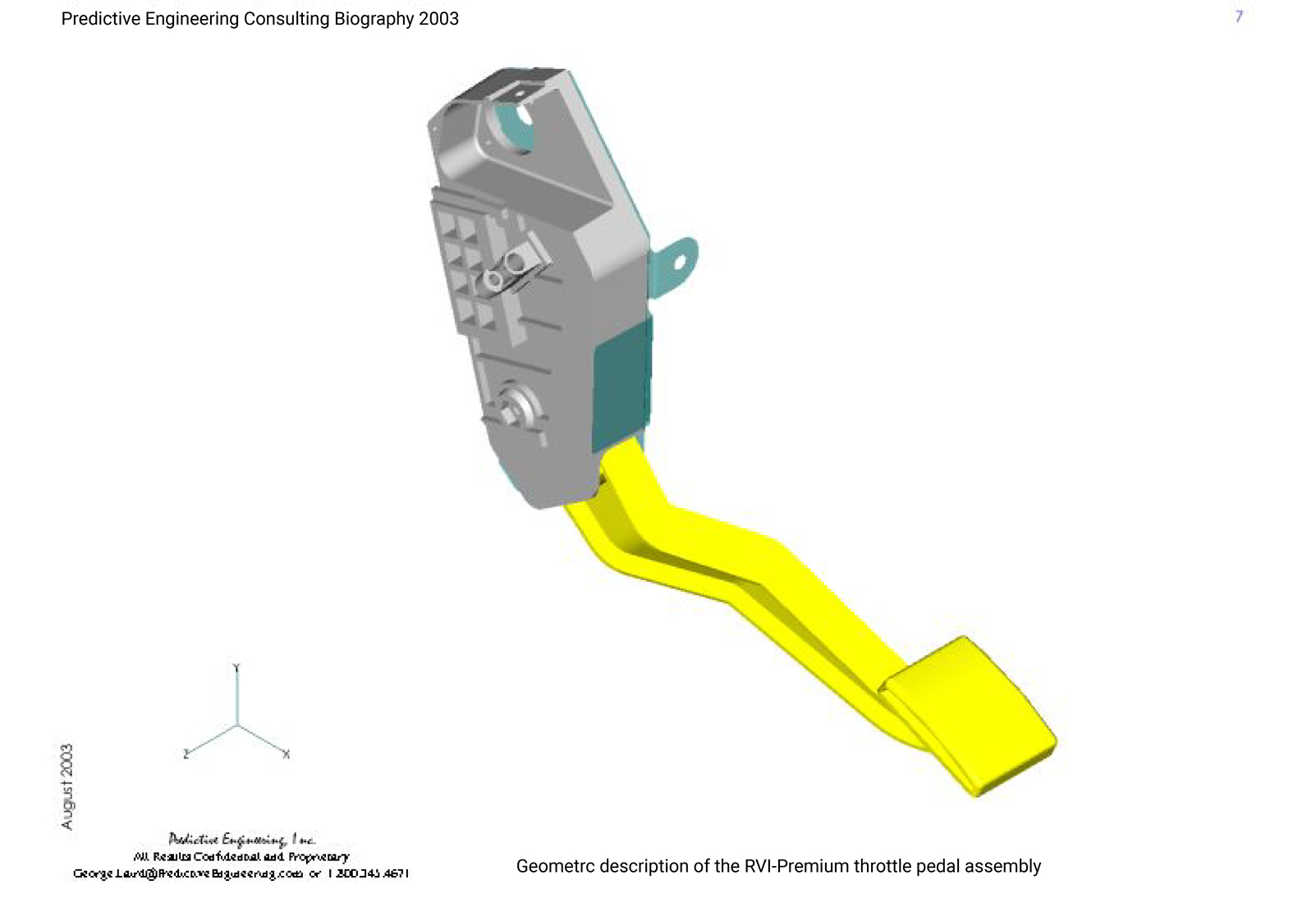 Femap FEA model of accelerator all-plastic pedal