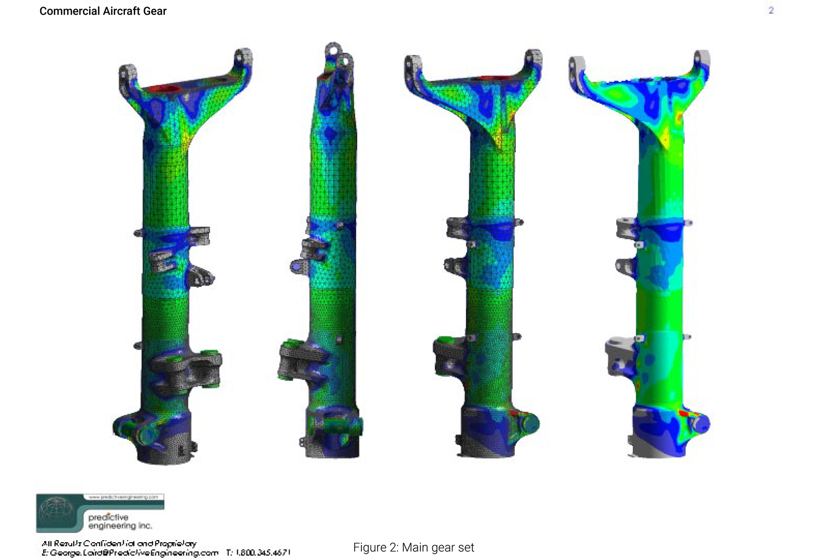 Femap FEA model of main landing gear strut for Boeing's 787