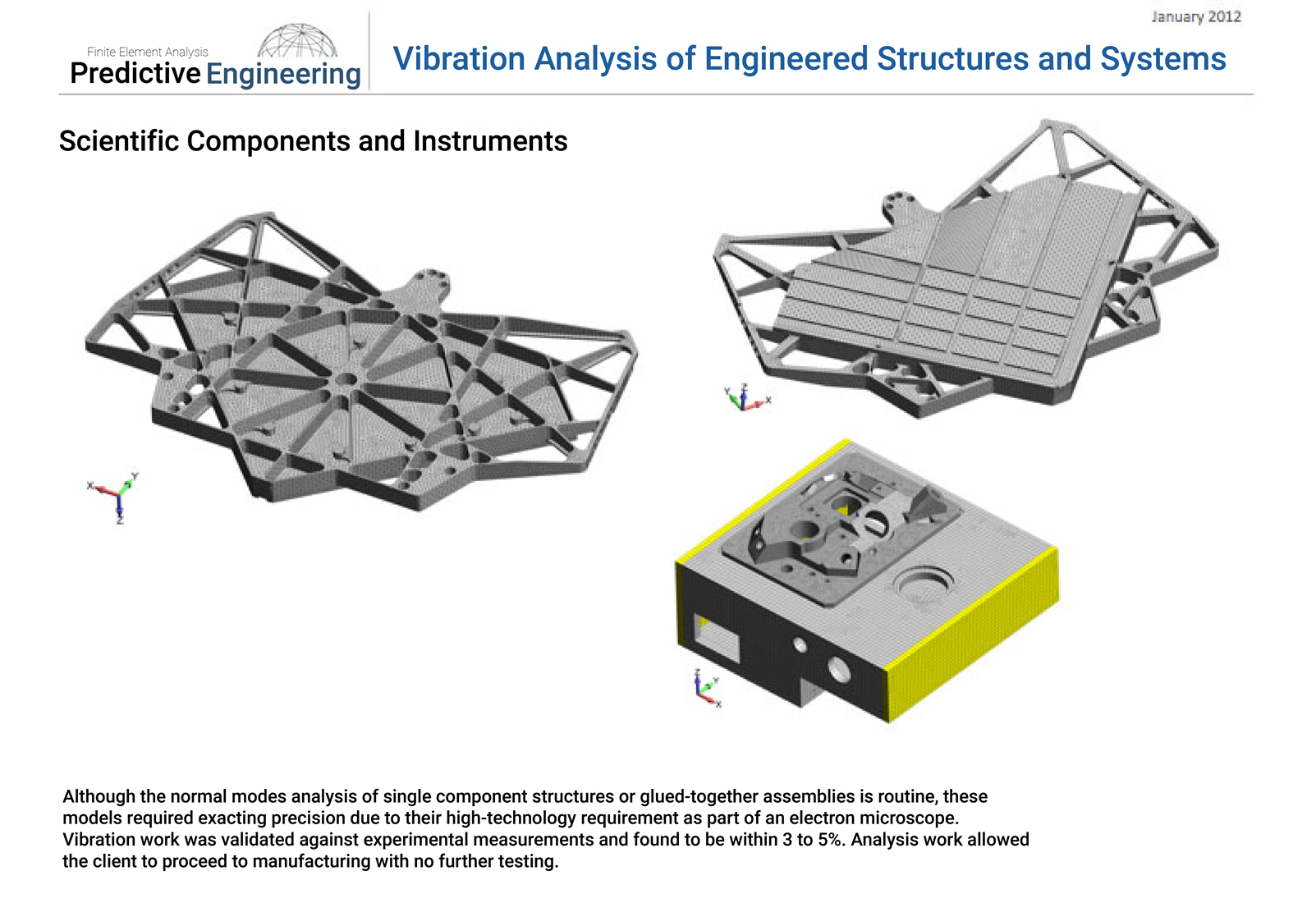 Normal modes analysis using Femap and NX Nastran for a variety of electron microscope platens and holders