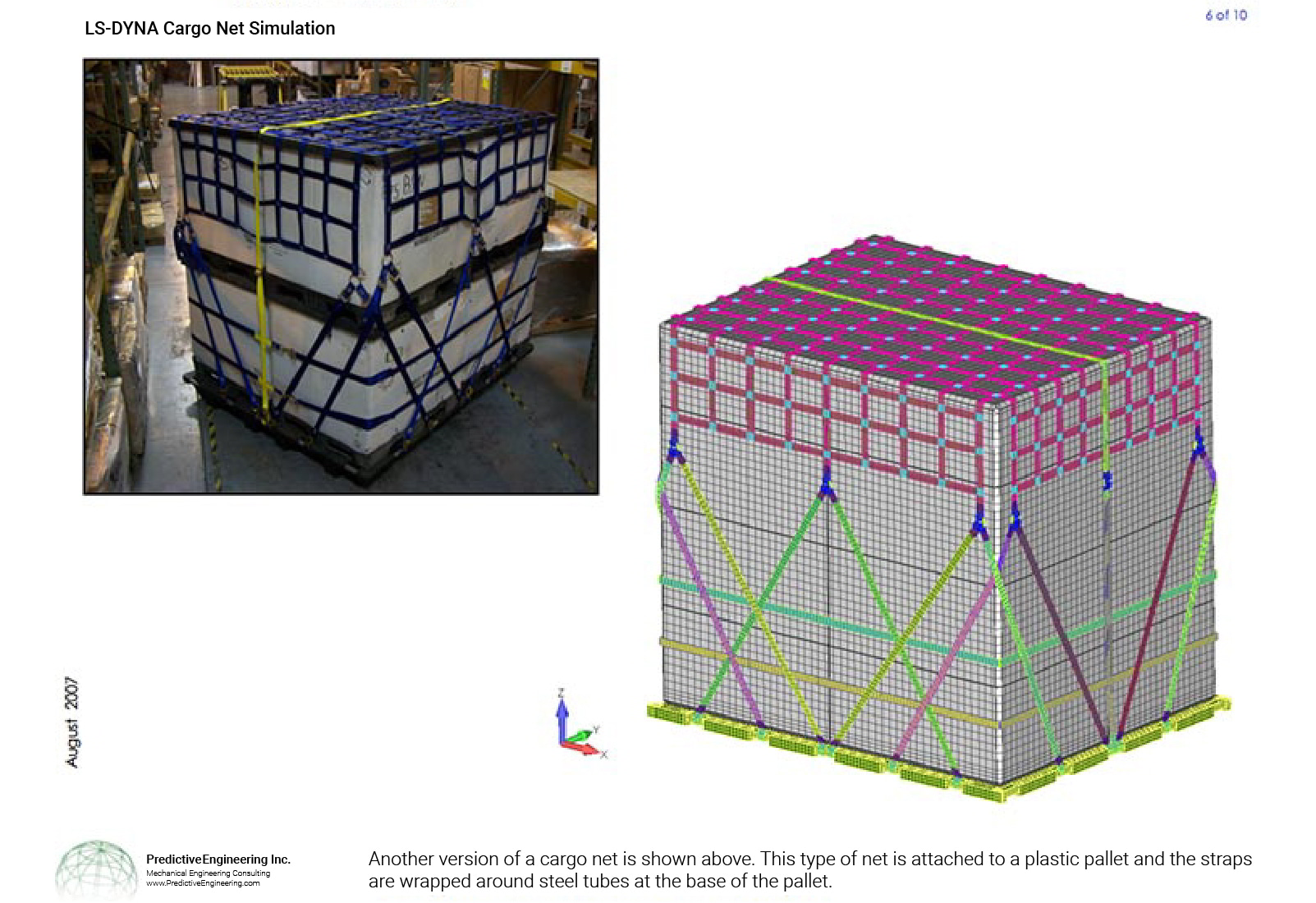 Cargo Net Securing Cargo and the Nonlinear FEA model built our FEA consultants