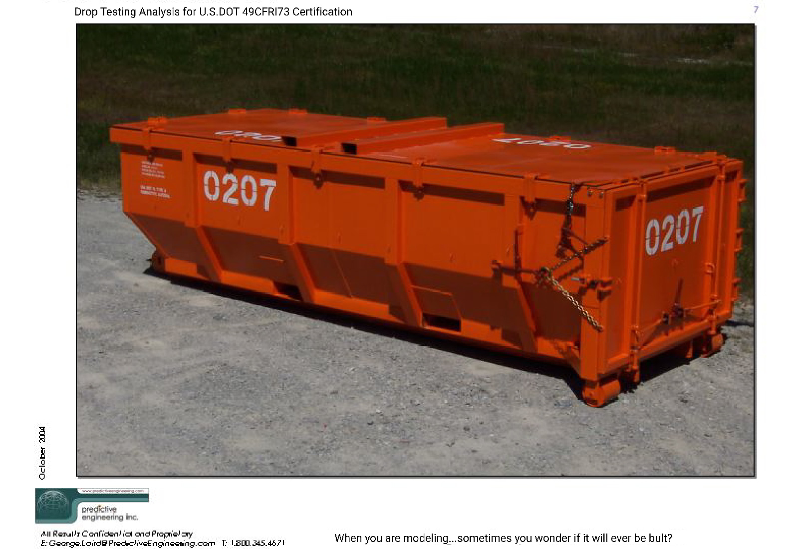 Large Nuclear Waste Storage Containers Slide 5