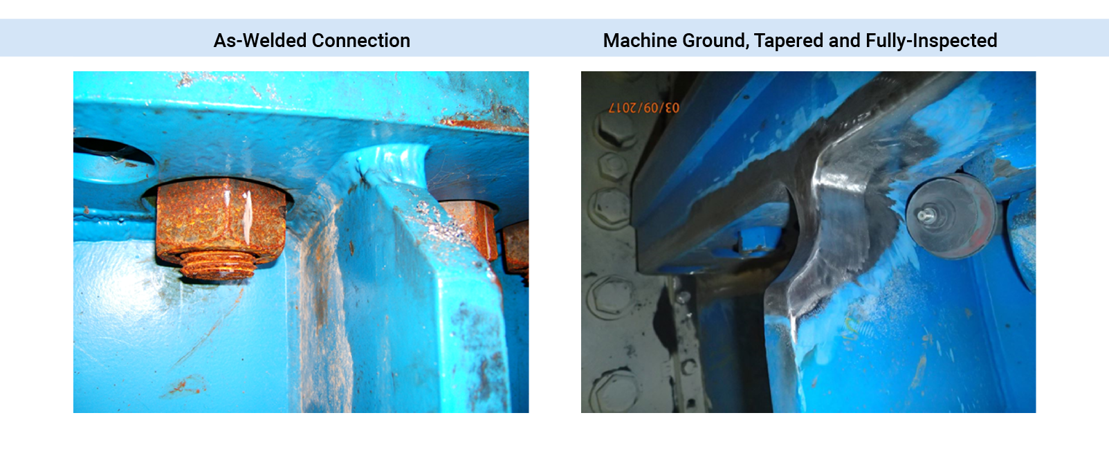 ASME Section VIII Design-by-Analysis Fatigue Classification Weld Quality Levels  As-Welded (4.0) to Machine Profiled, Fully-Inspected (1.0) .PNG