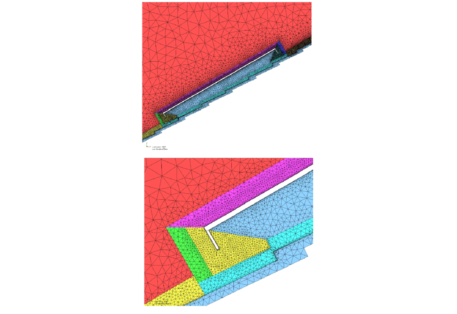 CFD meshing control used to capture the pressure loading over the roof and panel system