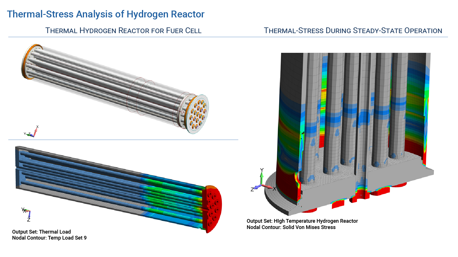 Thermal-Stress Analysis of Hydrogen Reactor - FEA Consulting Service