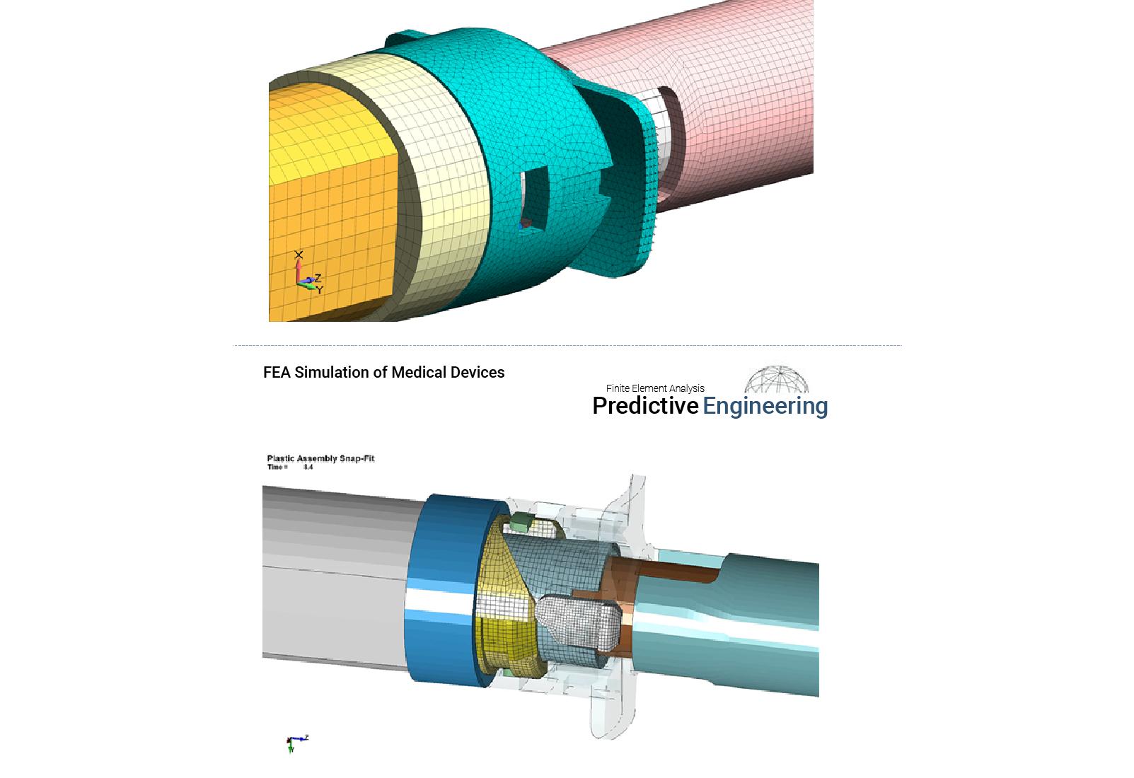 Figure 4: All plastic medical snap-fit design using several different grades of plastics