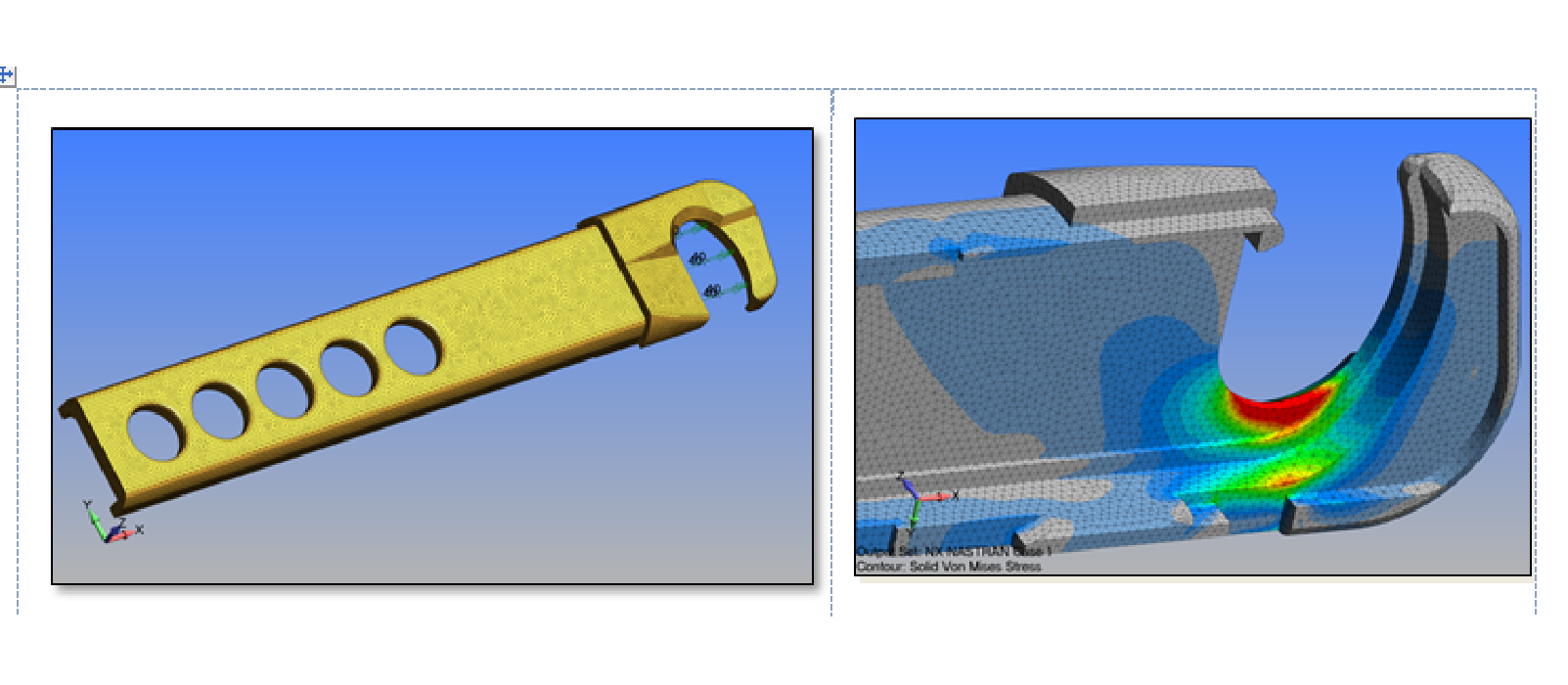 Figure 5: FEA Simulation of endoscopic surgical stapling anvil for ultimate load determination