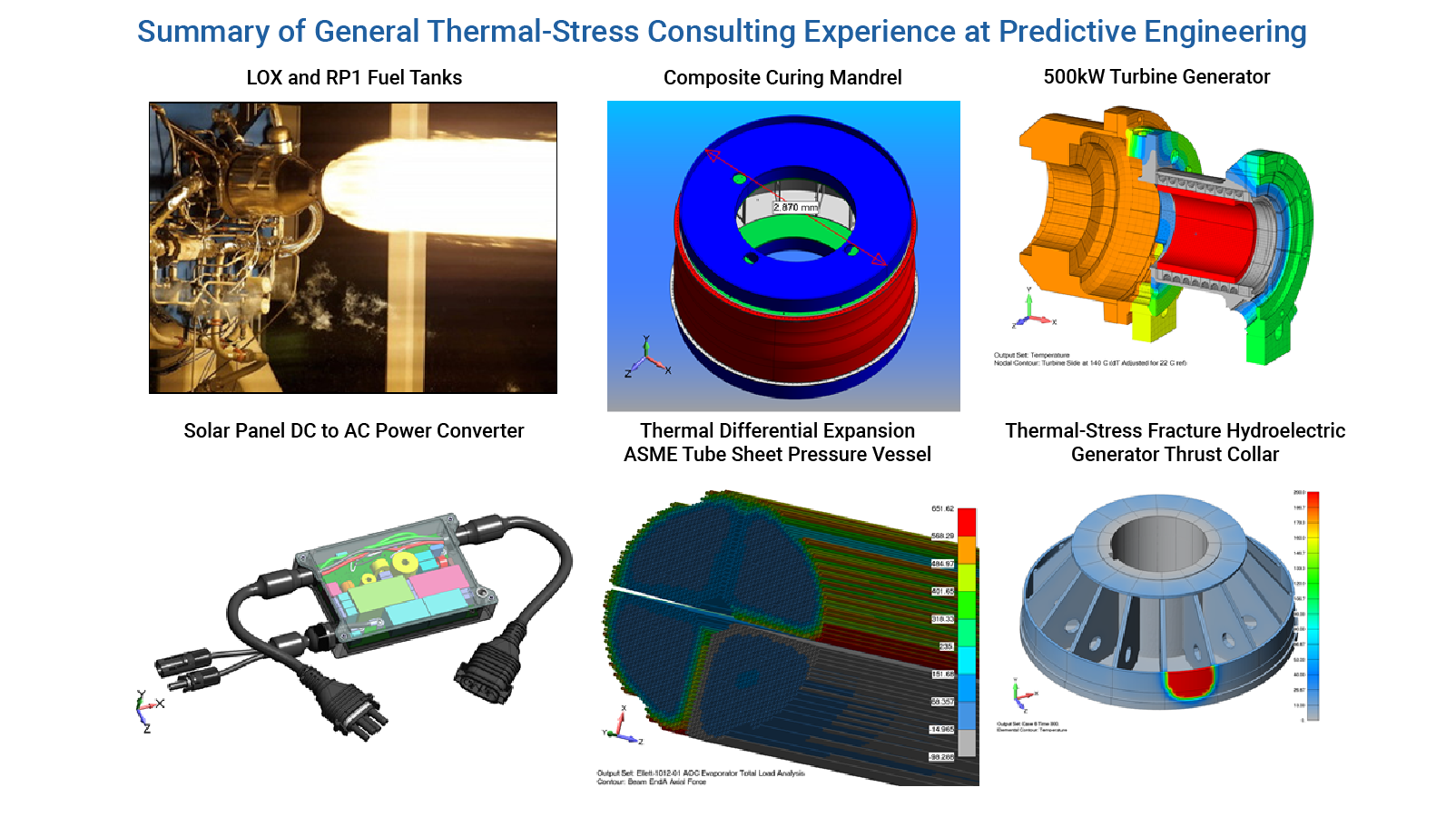 Summary of General Thermal-Stress Consulting Projects