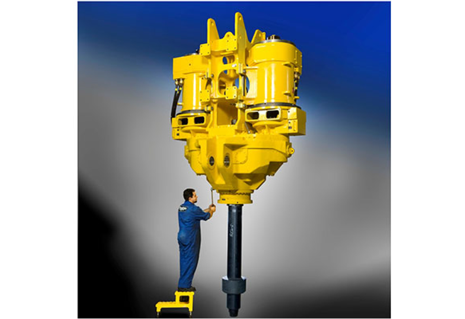 Complete 1,000 short ton top drive assembly that was analyzed by Predictive Engineering