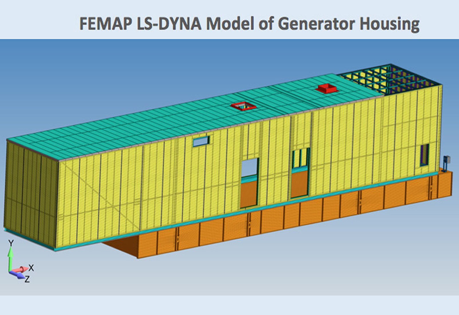 LS-DYNA Blast Analysis of Large Generator Housings 01