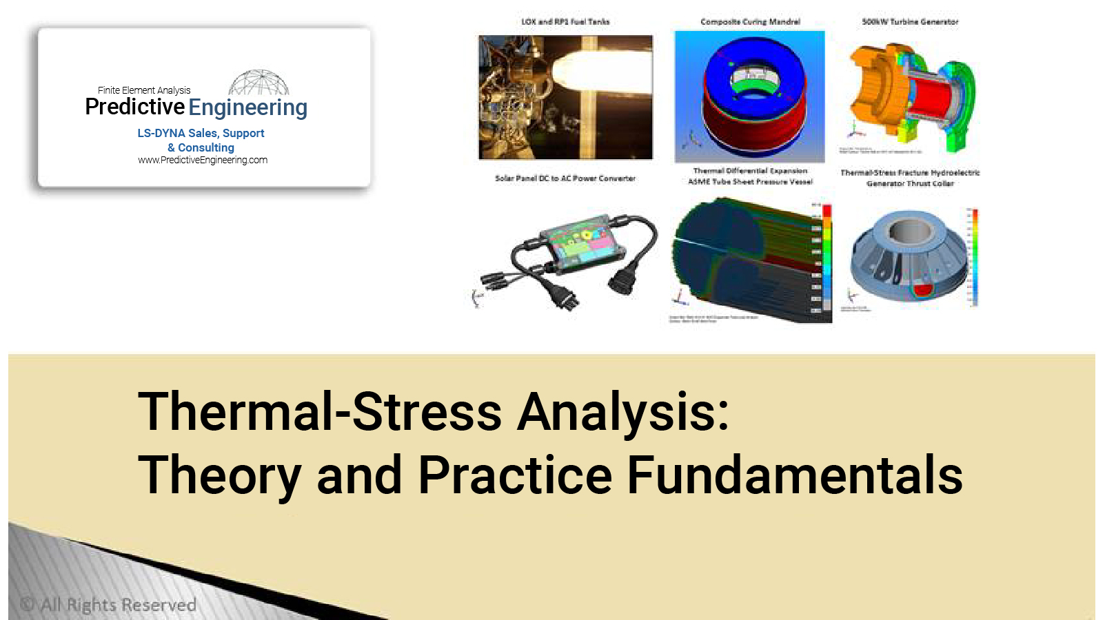 Thermal-Stress Analysis - Predictive Engineering White Paper - FEA Consulting Service
